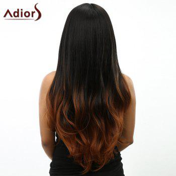 Curly Long Ombre Women's Heat Resistant Synthetic Wig - OMBRE