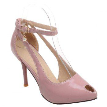 Fashionable Patent Leather and Hollow Out Design Women's Pumps