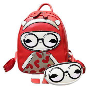 Fashionable Multicolor and Cartoon Pattern Design Women's Backpack