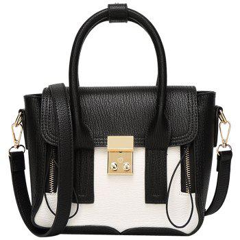 Fashion Color Block and Hasp Design Women's Tote Bag