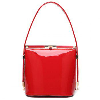 Candy Color Hasp and Solid Color Design Women's Tote Bag