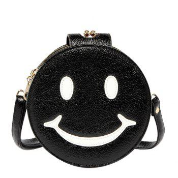Leisure Smiling Face and Round Shape Design Women's Crossbody Bag