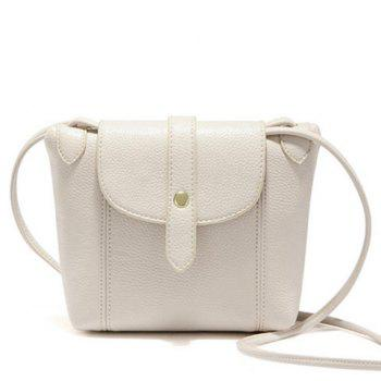 Stylish Stitching and Solid Color Design Women's Crossbody Bag