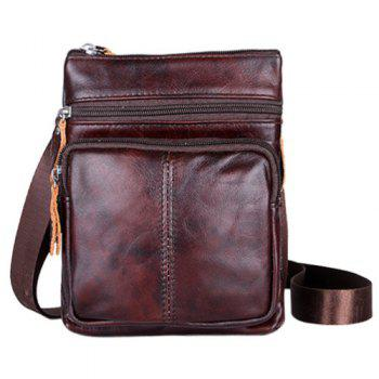 Fashion Solid Color and Zip Design Men's Messenger Bags