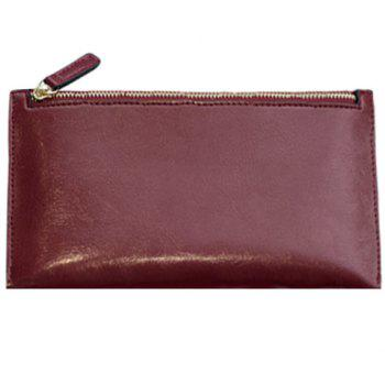 Zip Design Clutch Bag For Women