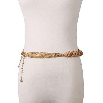 Multilayered Circle Golden Waist Chain - GOLDEN