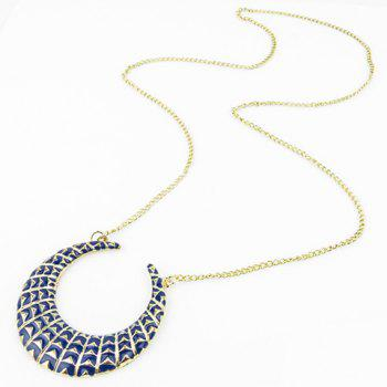 Moon Geometric Pendant Necklace