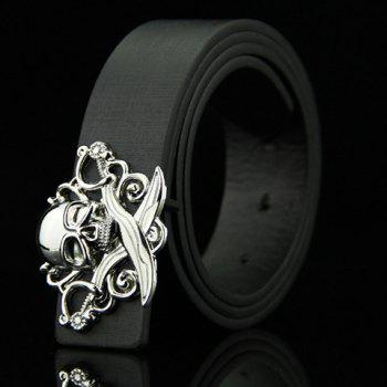 Stylish Skull and Broadsword Shape Embellished Men's Belt