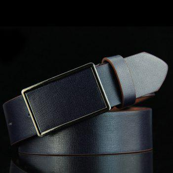 Stylish Smooth Rectangle Buckle Men's Belt - DEEP BLUE DEEP BLUE