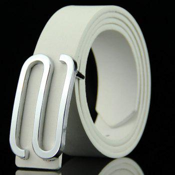 Stylish Big Letter S Shape Alloy Embellished Men's Belt