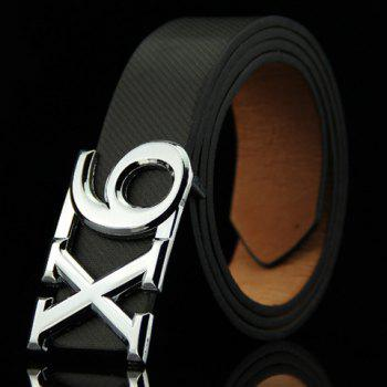 Stylish Letter X and Number 6 Shape Alloy Embellished Men's Belt