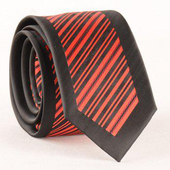 Stylish Twill Pattern Men's Red and Black Tie - RED/BLACK