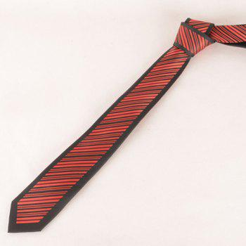 Stylish Twill Pattern Men's Red and Black Tie