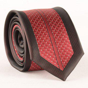 Stylish Small Dot and Stripe Jacquard Men's Red and Black Tie - RED/BLACK