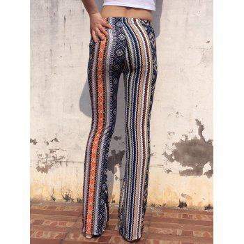 Vintage Elastic Waist Multicolor Skinny Geometric Print Women's Pants - COLORMIX ONE SIZE(FIT SIZE XS TO M)