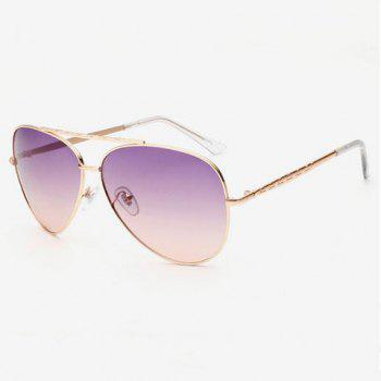 Chic Gradient Color Lenses Special Cruciform Women Aviator's Sunglasses