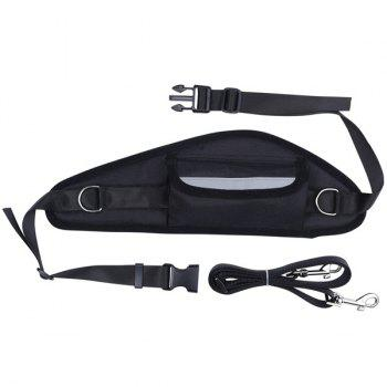 A Set Of Professional Dog Traction Rope With Waist Bag For Walking