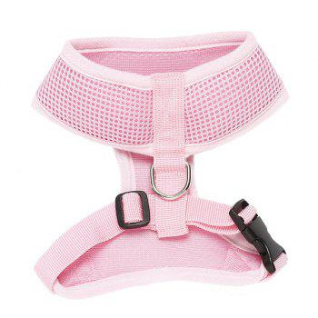 High Quality Solid Color Mesh Fabric H Section Dog Chest Straps - PINK XS
