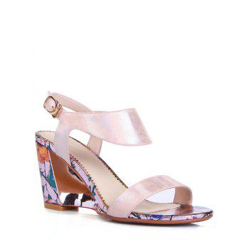 Trendy Print and Wedge Heel Design Sandals For Women