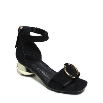 Trendy Metal and Strange Heel Design Sandals For Women