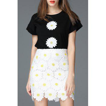 Flower Patch Cotton T-Shirt