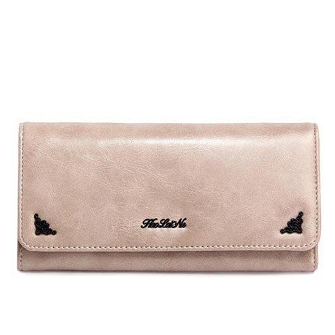 Concise Tri-Fold and Letter Design Women's Wallet trendy hasp and tri fold design wallet for women