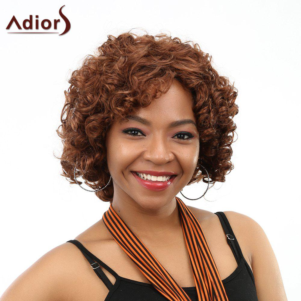 Fashion Side Bang Curly High Temperature Fiber Wig For Women - DARK AUBURN