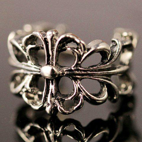 Hollow Out Floral Ring - SILVER GRAY ONE-SIZE