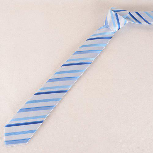 Stylish Twill Pattern Light Blue Silky Men's Tie - LIGHT BLUE