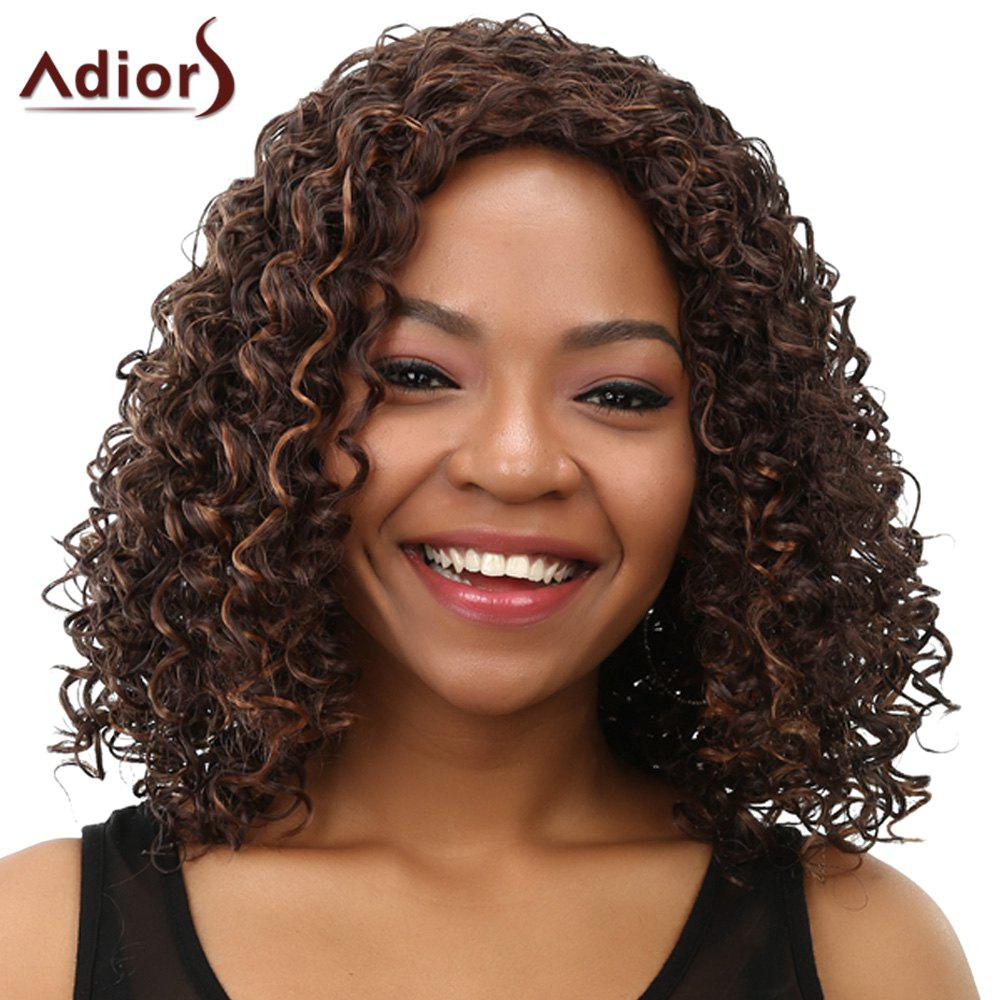 Curly Long Women's Heat Resistant Synthetic Wig - COLORMIX