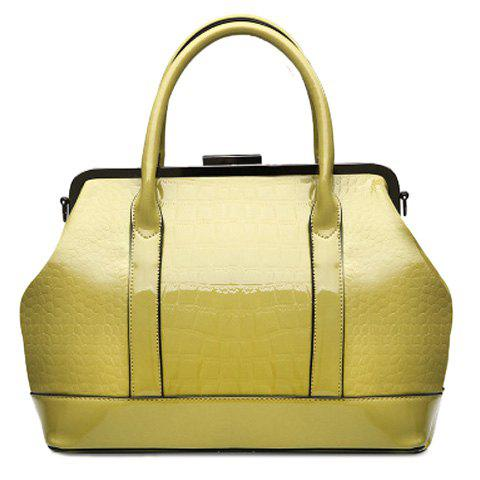 Fashion Stitching and Embossing Design Women's Tote Bag