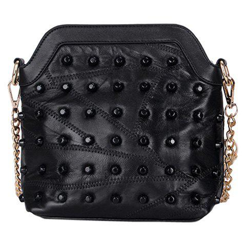 Fashion Rivets and Black Color Design Women's Crossbody Bag