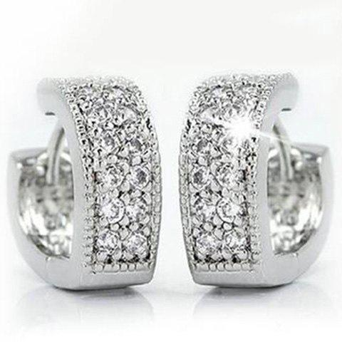 Rhinestone Embellished Heart Shape Earrings regent inox 93 si fo 25