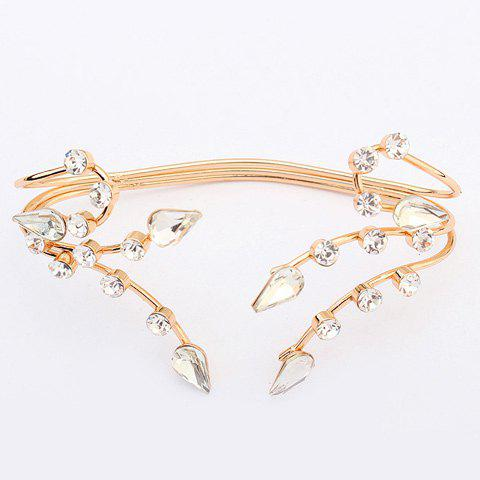 Chic Multilayered Rhinestone Water Drop Bracelet For Women -  GOLDEN
