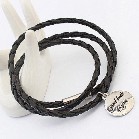 Chic Faux Leather Lucky Bracelet For Men