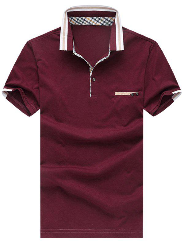 Men's Casual Plus Size Short Sleeves Solid Color T-Shirt