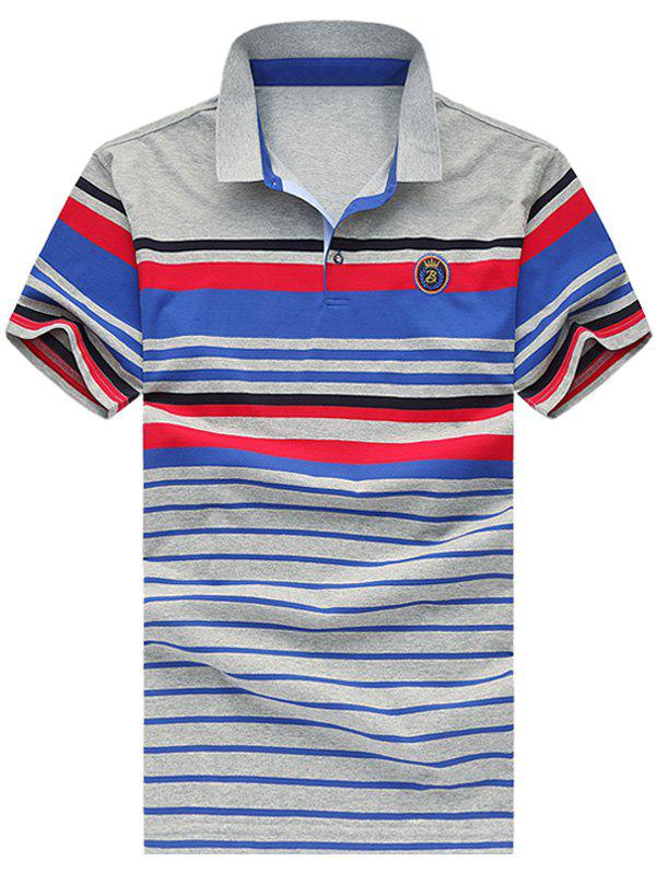 Men's Fashion Plus Size Short Sleeves Striped T-Shirt