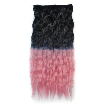 Vogue Ombre Color Long Fluffy Corn Hot Curly Capless Synthetic Hair Extension For Women