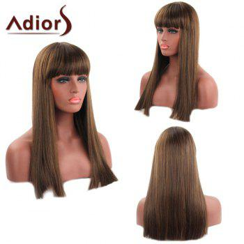 Trendy Straight Capless Full Bang Long Synthetic Women's Adiors Wig