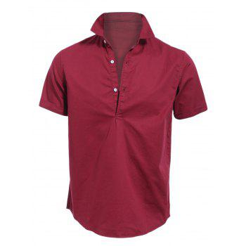 Vogue Turn-down Collar Solid Color Short Sleeves Fitted Polo T-Shirt For Men