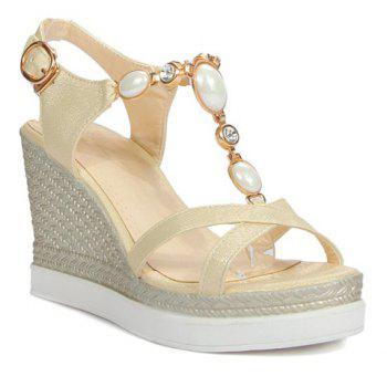 Stylish Metal and T-Strap Design Women's Sandals