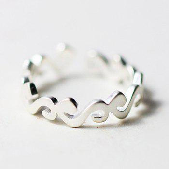 Frosted Sea Wave Shape Ring