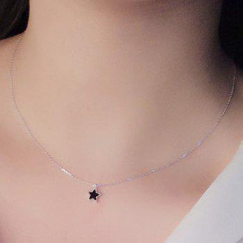 Pentagram Alloy Pendant Necklace -  BLACK