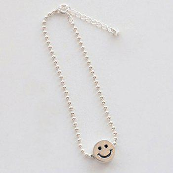 Carton Smile Face Expression Alloy Bracelet - SILVER SILVER