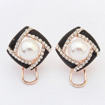 Pair of Hollow Out Faux Pearl Earrings