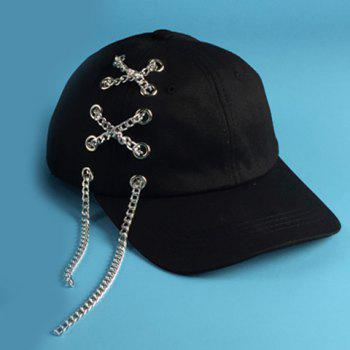 Chic Alloy Chain and Hollow Hole Embellished Women's Baseball Cap