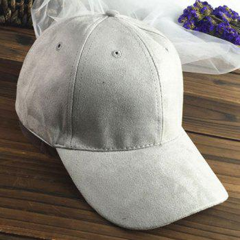 Chic Letter A Embroidery Side Women's Suede Baseball Cap - LIGHT GRAY LIGHT GRAY
