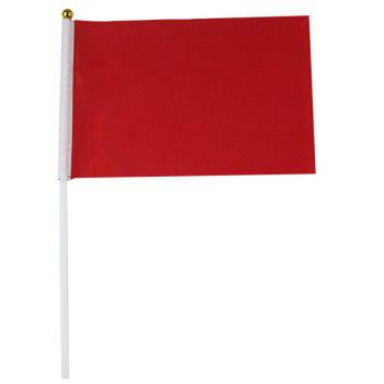 Hot Sale Kindergarten Exercises Activities Sports Meet Props Red Small Flag -  RED