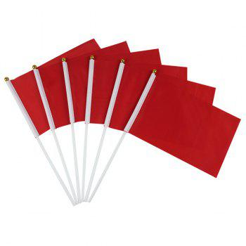 Hot Sale Kindergarten Exercises Activities Sports Meet Props Red Small Flag - RED RED