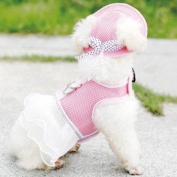 Fashionable Breathable Mesh Fabric Pet Dog Sunhat - PINK S